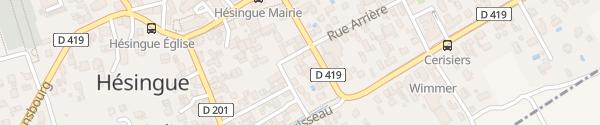 Karte Rue du Bon Coin Hésingue