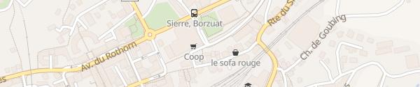 Karte Parkhaus Europa Sierre