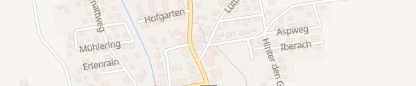 Karte Privater Ladepunkt Brislach