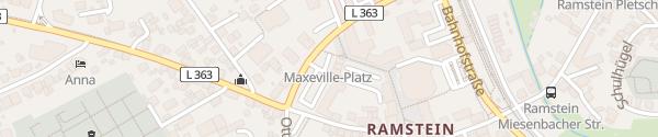 Karte Maxéville-Platz Ramstein