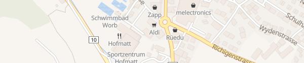 Karte ALDI Worb