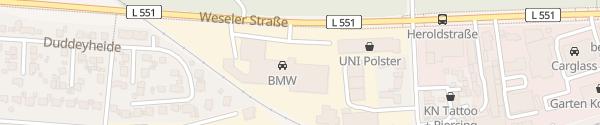 Karte BMW Hakvoort Münster