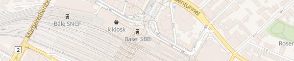 Karte Centralbahnparking Basel