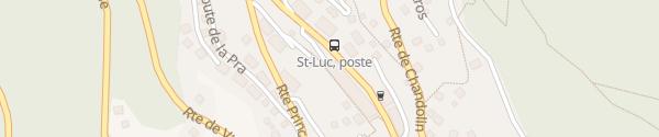 Karte Parking de l'Achelli Saint-Luc