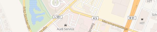 Karte VW Autohaus Knubel Münster