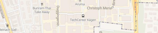 Karte Parkhaus TechCenter Reinach