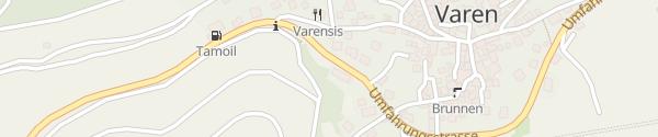 Karte Parkplatz Feuerwehrlokal Varen