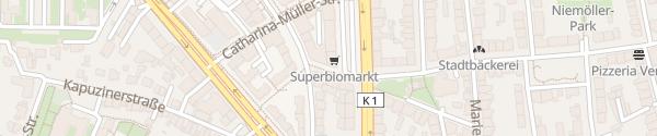 Karte SuperBioMarkt Münster