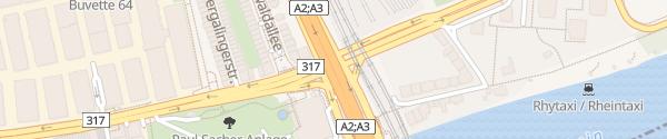 Karte Grenzacherstrasse Basel