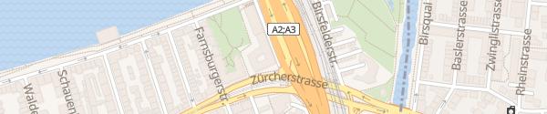 Karte Breite Hotel Basel