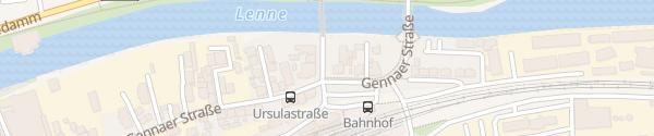 Karte Bahnhof Iserlohn-Letmathe