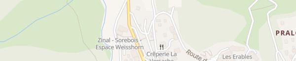 Karte Les Liddes Zinal
