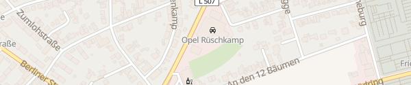 Karte Autohaus Rüschkamp Werne