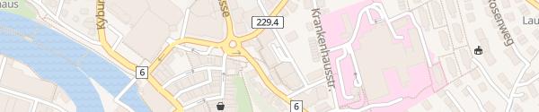Karte Parkhaus Burgzentrum Thun