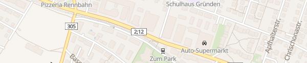 Karte VW Garage Grosspeter Muttenz