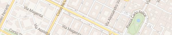 Karte Corso Vittorio Emanuele II Torino