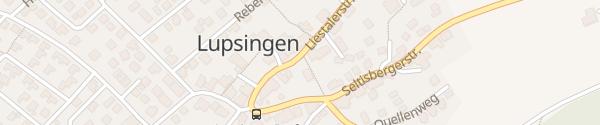 Karte Gemeindeverwaltung Lupsingen