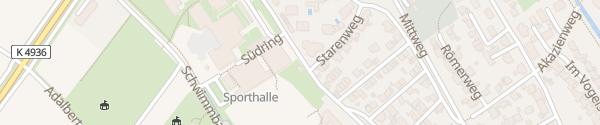 Karte Sporthalle Bad Krozingen