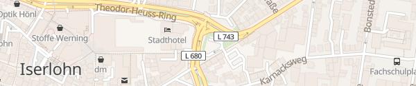 Karte Parkplatz Mendener Straße Iserlohn