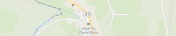 Karte Hôtel Restaurant Au Cheval Blanc Niedersteinbach