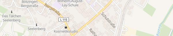Karte Rathaus Bötzingen