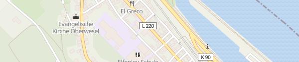 Karte Liebfrauenstraße Oberwesel
