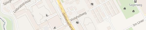Karte Parkplatz Violahofweg Kaiseraugst