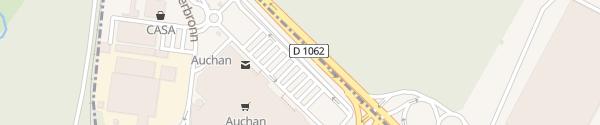Karte Auchan Schweighouse sur Moder