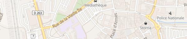 Karte Parking de la Vieille Île Haguenau