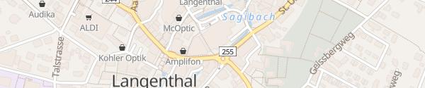Karte COOP Langenthal