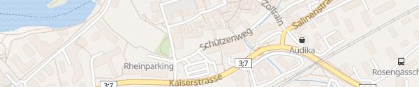 Karte Parkplatz Schützen Rheinfelden
