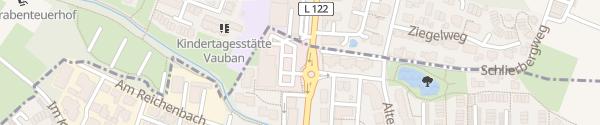 Karte ALDI Süd Merzhausen