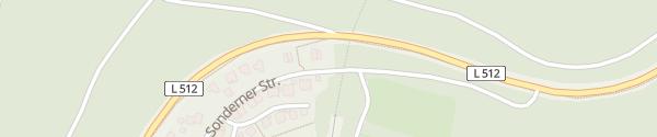 Karte Sonderner Straße Olpe