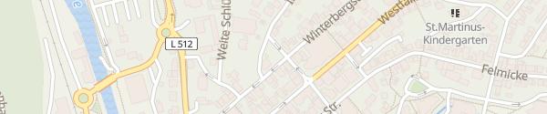 Karte Parkplatz 7 Imbergstraße Olpe