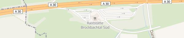 Karte Brockbachtal Süd Westerkappeln
