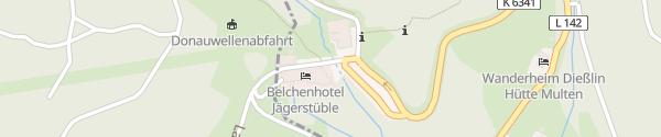 Karte Destination Charger Belchenhotel Jägerstüble Aitern