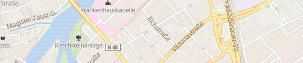 Karte Parkplatz Kilianstraße Bad Kreuznach