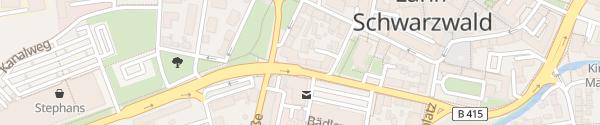 Karte City-Hotel Eisberg Lahr