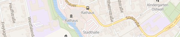 Karte Parkplatz Stadthalle Ahlen