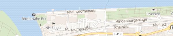 Karte Alte Stadthalle Bingen am Rhein