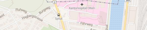 Karte Parkhaus Kantonsspital Olten