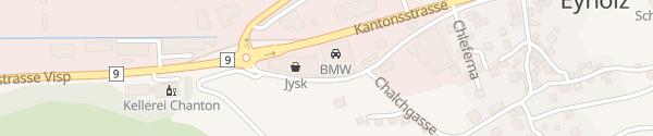 Karte ACW Auto-Center Visp Eyholz