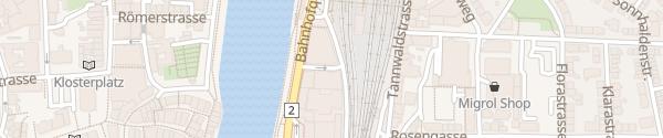Karte Bahnhof Olten