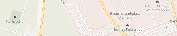 Karte E-Center Offenburg