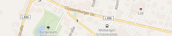 Karte Rathaus Molbergen