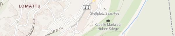 Karte Parkhaus Saas-Fee
