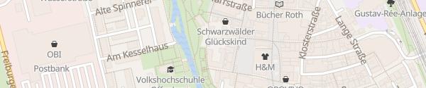 Karte Tiefgarage Marktplatz Offenburg