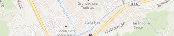 Karte Haus des Gastes Todtnau