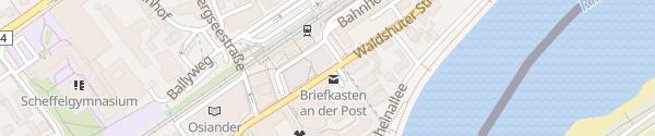 Karte Bahnhofsplatz Bad Säckingen