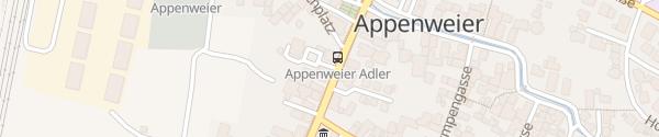Karte E-Bike Ladesäule Polizeiposten Appenweier